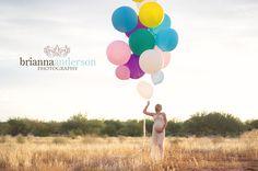 maternity + balloons :)