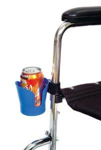 Essential Medical Supply Lumbar Cushion with Strap, Navy by Essential Medical Supply. $11.90. Easy to attach. Attractive blue color. Will fit almost any wheelchair or walker. Essential cup holder will fit almost any drink. Easy to attach and will fit almost any diameter chair and most walkers.