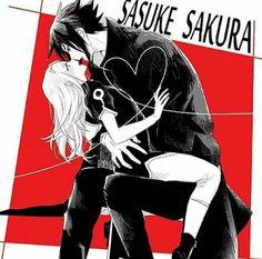 Anime: Naruto Personagens: Sakura e Sasuke Uchiha
