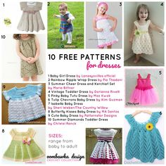 f771cab1abaa7 10 Free Patterns for Dresses. Find a pretty crochet dress pattern in this  Oombawka Design