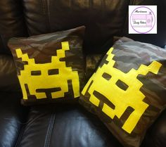 Retro Gaming Cushion pdf sewing pattern gift by MartisanneHandmade