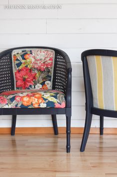 Pair of Faux Bamboo Cane Chair Bamboo Furniture, Painted Furniture, Bamboo Chairs, Chair Makeover, Furniture Makeover, Furniture Projects, Home Furniture, Faux Bamboo, Furniture Inspiration