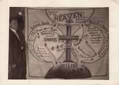 old time religion Banner of Heaven and Hellfire Hale's Studio Prestonburg Kentucky No Date circa Photograph collection Jim. Old Time Religion, Photography Movies, The Warlocks, Religious Books, Southern Gothic, Heaven And Hell, The Secret History, Praise The Lords, Reference Images