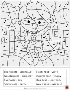Music lessons The benefits of color by music symbols worksheets include reinforcing the name or function of music symbols and having a calming effect on students! Music Lessons For Kids, Music For Kids, Piano Lessons, Art Lessons, Music Worksheets, Free Printable Worksheets, Free Printables, Music Symbols, Music School