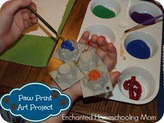 Paw Print Art Project! - Enchanted Homeschooling Mom