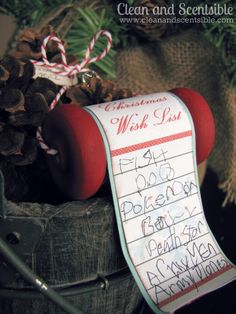 Clean & Scentsible: Christmas Wish List Ornaments {Free Printable}