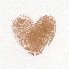 Vingerafrdruk in hart vorm