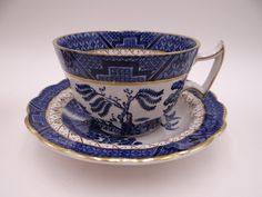 Booths English China  Real Old Willow Blue and by SecondWindShop