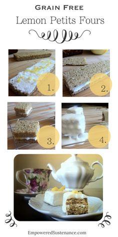 Grain Free Lemon Coconut Petits Fours... healthy and so cute!