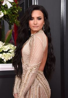 Demi Lovato 2017, Short Sleeve Dresses, Dresses With Sleeves, Long Sleeve, Facon, Backless, High Neck Dress, Sari, Celebrities