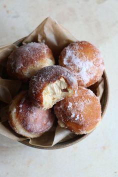 Salted Caramel Brioche Doughnuts | addmorebutter.com