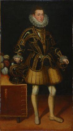 Portrait of Don Diego Gomez de Sandoval Y Rojas, Count of Saldana 1598. by Juan Pantoja de la Cruz (1551-1608)
