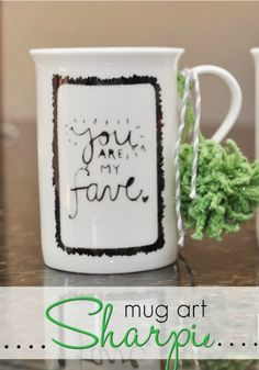 Sharpie Mug Art idea from @Somewhat Simple {Stephanie Dulgarian} | DIY Mother's Day Craft