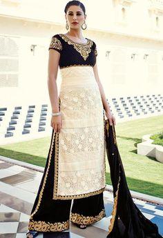 Black Viscose,Net Designer Salwar Kameez..@ fashionsbyindia.com #designs #indian #fashion #womens #style #cloths #fashion #stylish #casual #fashionsbyindia #punjabi #suits #wedding #salwar #kameez #chic #outfits #elegance #fantasy #beauty #anarkali #palazzo