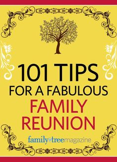 101 Tips for a Fabulous Family Reunion e-Book | ShopFamilyTree