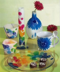 Pictura pe sticla si portelan - model 6 Awesome Things, Tableware, Creative, Home, Dinnerware, Dishes