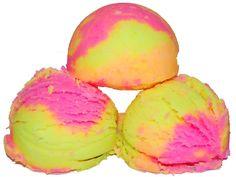 How to Make Bath Bombs - DIY Rainbow Sherbet Bath Fizzies Recipe that looks just like ice cream! Bath Bomb Recipes, Soap Recipes, Homemade Ice, Homemade Bath Bombs, Homemade Soaps, Rainbow Bath Bomb, Rainbow Sherbet, Body Scrubs, Sugar Scrubs