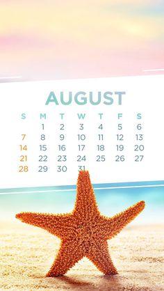 Wallpaper iPhone calendar August 2016