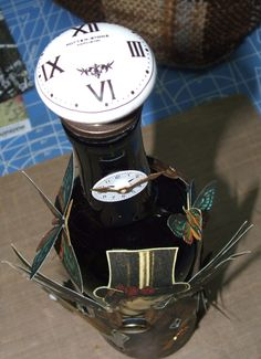 Top of steampunk altered bottle