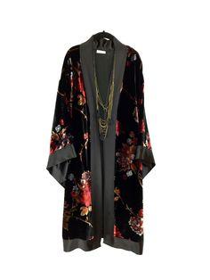 A personal favourite from my Etsy shop https://www.etsy.com/uk/listing/476665060/silk-velvet-kimono-jacket-short-midi-or