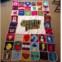 """Gravity Falls: Mabel Pines """"Sweaterghan"""" - CROCHET (Could make a quilt/appliqué version)"""