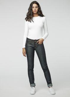 Women Demim Look Full Lenght Leggings Legs Shaping Stretchy High Waist Pants G01