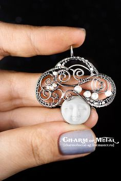 """Think About Cloud"" Silver Pendant 