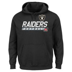 Oakland Raiders Men's Big & Tall Team Pride Fleece Pullover Hoodie Sweatshirt - 2XL Tall