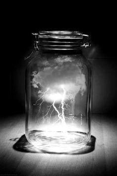 Lightning in a jar.