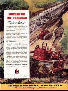 Items similar to 1945 International Harvester Tractors-Railroads Original * Magazine Ad on Etsy Chevy Trucks Older, Lifted Cars, Lifted Chevy Trucks, Lifted Ford Trucks, Pickup Trucks, Case Tractors, Old Tractors, International Tractors, International Harvester