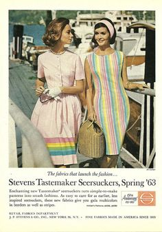 Early 1960s summertime pastel prettiness. #1960sfashion #1960sclothing #1960sdress