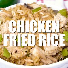 Fried Rice Chicken Fried Rice - Better than takeout! This easy family recipe is loved in our home. It's full of flavor and delicious.Chicken Fried Rice - Better than takeout! This easy family recipe is loved in our home. It's full of flavor and delicious. Rice Dishes, Food Dishes, Asian Recipes, Healthy Recipes, Easy Recipes, Casserole Recipes, Rice Casserole, Chicken Recipes, Easy Chicken Fried Rice Recipe