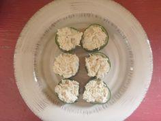Tuna Stuffed Cucumber Bites