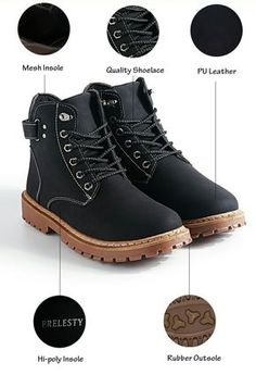 US $28.48 Prelesty Brand Keep Warm Men Winter Army Boots High Top Men Work & Safety Resisting Boots Waterproof Lace-up Male
