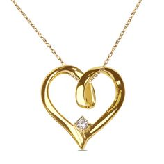 Ebay NissoniJewelry presents - 03ct Solitaire 10kt Yellow Gold Heart Pendant with 18 Chain    Model Number:P5147-Y077    http://www.ebay.com/itm/03ct-Solitaire-10kt-Yellow-Gold-Heart-Pendant-with-18-Chain/222015325937