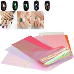 $0.36 Find More Stickers & Decals Information about New 5 pcs 5 Colors Holographic…
