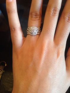My dream Bridal set! Neil Lane Round Stone with top and bottom band