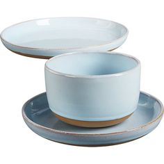 Shop natural clay dinner plate.   Handthrown stoneware shows the potter's skill with a modern two-tone dip.