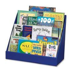 Classroom Keeper Book Shelf, 3-Tiered, Blue