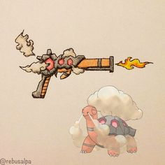 Pokeweapon No. 324 Torkoal (Steamgun)