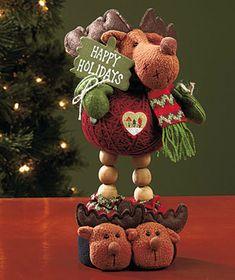 Moose Decorative Christmas Yarn Pal