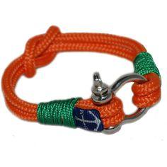 Orange and Green Nautical Bracelet by Bran Marion
