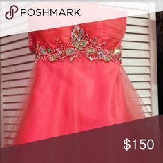 Homecoming Dress Size 2, worn once, coral Dresses Strapless