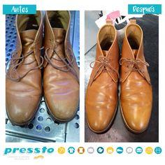 Un ejemplo más de lo que Pressto puede hacer por tu calzado. Limpia y da esplendor. Boots, Fashion, Cleanses, Footwear, Clothing, Crotch Boots, Moda, La Mode, Heeled Boots