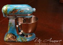 Sea Turtle custom painted KitchenAid Mixer {Artisan Mixer Included} Un Amore by Nicole Dinardo Paint Refrigerator, Artisan Mixer, Kitchenaid Stand Mixer, Mixers, Kitchen Appliances, Kitchens, Custom Paint, Home Projects, Kitchen Aide