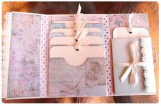 Melissa Frances book / this idea would be great to put in the back of my children's mini albums...it could hold the reduced sizes of their art work from when they were little  : )