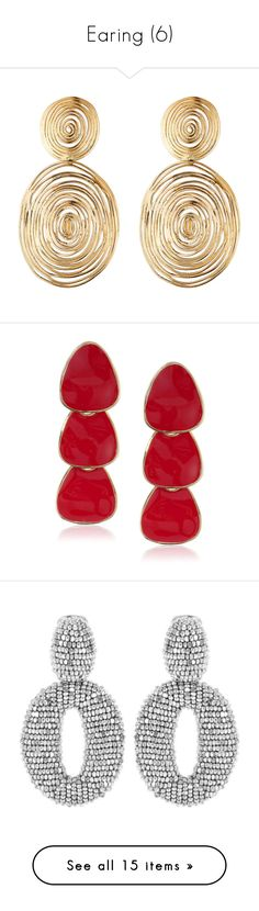 """""""Earing (6)"""" by geniusmermaid ❤ liked on Polyvore featuring jewelry, earrings, gold, polish jewelry, bohemian earrings, gold plated jewellery, gas bijoux, bohemian style jewelry, red and yellow gold drop earrings"""