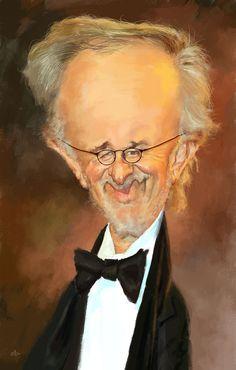 Caricatura de Steven Spielberg