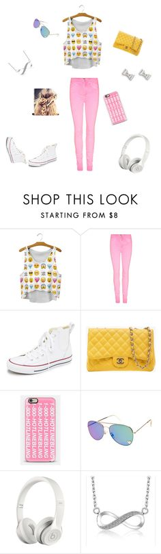 """""""Sun kissed teen"""" by madsywalker ❤ liked on Polyvore featuring Converse, Chanel, Casetify, Beats by Dr. Dre, Marc by Marc Jacobs, women's clothing, women's fashion, women, female and woman"""