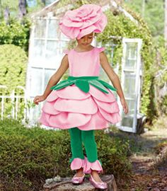 i think i can make my own rose costume with pink dress green belt and leggings and buying or DIYing a flower headband.